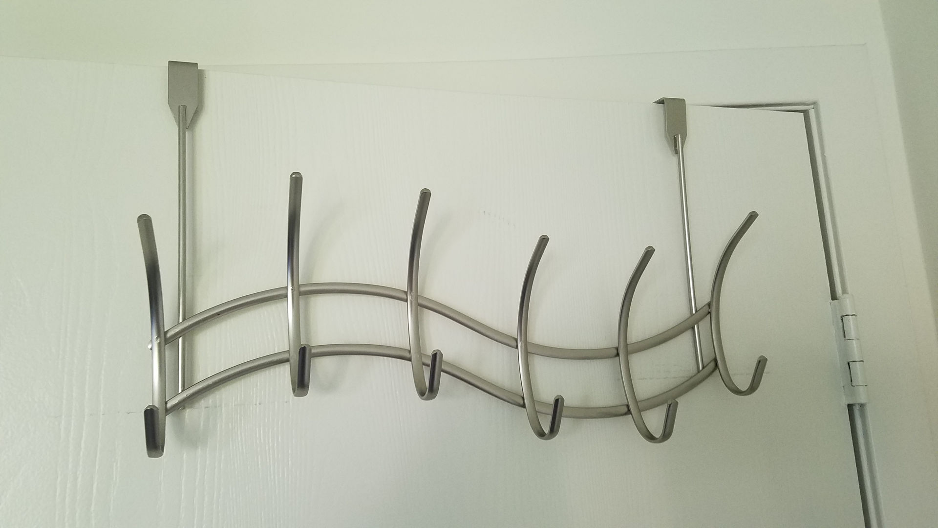 Back-of-door clothes hooks