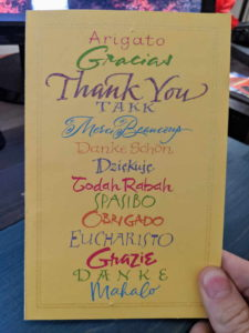 random acts of kindness 2019 thank you card front